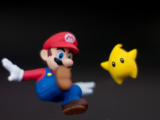 Super Mario and star CGI